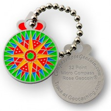 Micro Compass Rose Trackable Tag - 32 Point