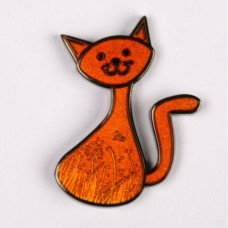 CacheCat (Black nickel and orange colouring) - Meandering cat