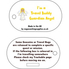 Travel Buddy Guardian Angel Tag (by NE Geocaching Supplies)