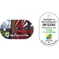 Isle of Man tag - Laxey Wheel
