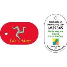Isle of Man flag tag