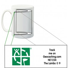 Groundspeak approved Trackable Geocaching Mug (Traditional GS Icons)