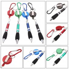 String retractable clip-on pens