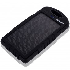 Geocaching & munzee Power Bank (Portable Solar Rechargable USB battery charger 8000mah with 12 LED Torch)
