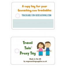 The Travel Twin Tag (**NEW** Flexible Proxy Tags by NE Geocaching Supplies)