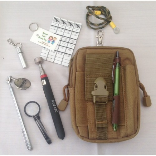 my tools of the trade geocaching bag