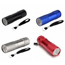 UV Torch 9 LED (Ideal for night caching - choice of colours)
