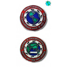 World Traveller Coin (Red)